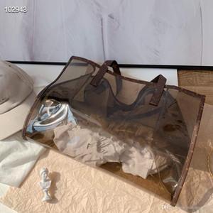 تم تصميم أحدث حقائب 2020 هلام من قبل المصمم. الملونة المحمولة حقيبة سفر المرأة، واحد الكتف حقيبة الشاطئ، واثنين من قطعة مجموعة