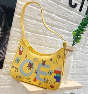 Tasarımcı Lüks Çantalar Cüzdanlar Kadınlar Graffiti Kişilik Omuz Çantaları Harf Moda Kız Baget Çanta Crossbody Çanta
