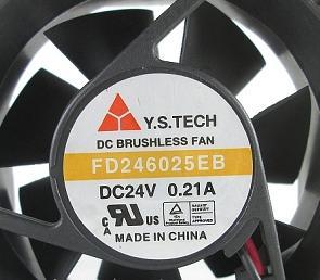 Applicable à la ligne FD246025EB DC12V 0.21A 2 du ventilateur de refroidissement de l'onduleur