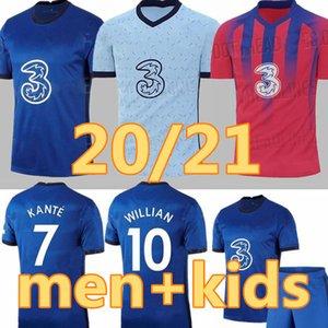 20 21 men kids kit home KANTE away WERNER ABRAHAM ZIYECH LAMPARD ODOI JORGINHO PULISIC soccer jersey 2020 2021 GIROUD WILLAN football shirt