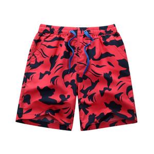 Mens Verão Hot Shorts Vender Imprimir Praia Calças Casual rápidas-Dryng Esporte solto Calças Curtas Masculino Vestuário Moda