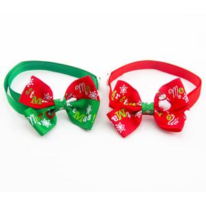 도매 조정 가능한 고양이 개 넥타이 눈송이 넥타이 개 bowtie 휴일 장식 크리스마스 정리 애완 동물 용품 액세서리 DBC DH0530