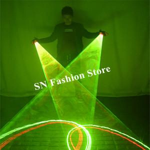 SJ84 Balo Salonu dans lazer girdap eldiven parti sahne gösterisi led kostüm dans gösterisi giyer dj performans lazer ışıklı disko yeşil ds sahne kulübü