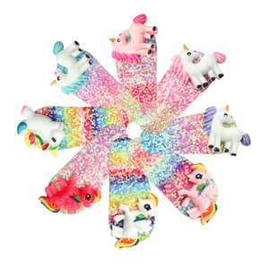 Cute Children Kids Unicorn Hair Clip Baby Girls Bling Bling Barrettes for Gift Party Fashion Hair Accessories Wholesale
