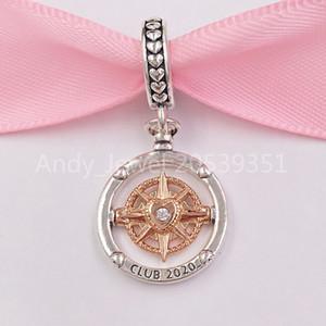 Auténticos de los granos de plata de ley 925 de Pandora del club 2020 Brújula cuelgan el encanto de Hadas se adapta al estilo europeo joyería de Pandora collar de las pulseras 7