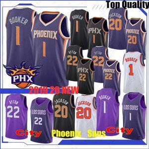 NCAA 19 20 Charles 34 Barkley Koleji Basketbol Formalar Steve Nash 13 DeAndre 22 Ayton Devin 1 Booker Josh 20 Jackson Üst Erkekler Formalar