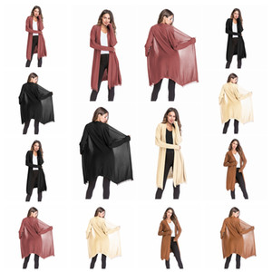 2019 European American thin long-sleeved sweater fashion tassel solid color cardigan shawl jacket, support mixed batch