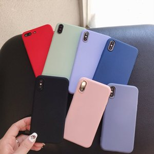 Liquid Silicone TPU Cases Back Cover For iPhone 11 pro max XR XS MAX iPhone 8 7 Plus for Samsung S8 S9 S10 PLUS Huawei P30 Pro LITE Mate 20