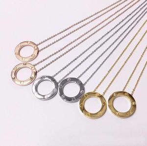Großhandel Liebesring Schrauben gespickt Designer Halskette für Herren und Damen Partei Paare Liebhaber Geschenk Luxuxschmucksachen