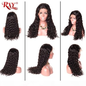 L 10a Grade Virgin Hair Peruvian Water Wave 360 Lace Wigs For Black Women No Tangle Curly 360 Full Lace Human Hair Wigs 10 -26inch