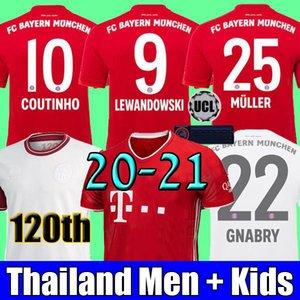 top thailand LEWANDOWSKI COUTINHO 19 20 Bayern Munich Gnabry Camiseta de fútbol 2019 2020 camiseta 120 Aniversario 120 años Camiseta de fútbol MUNCHEN Men + Kids sets
