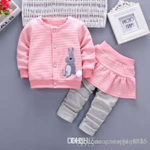 Bestselling new baby girl spring girl new 1-2-3-4 year old infant spring cotton suit set