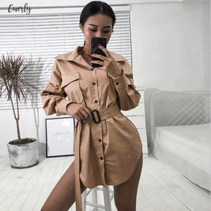 Casual Women Turtleneck Long Blouses Autumn Single Buttons Ladies Elegant Lace Up Fitted Waist Tops Shirt Drop Shipping