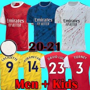 Yeni 2020 2021 Ev Kırmızı Futbol Formalar Arsen HENRY Deplasman Beyaz Futbol Gömlek 3 DAVID LUIZ maillot futbol Çocuklar Setleri 20 21 Tops