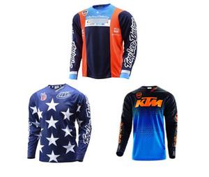 여름 TLD KTM 내리막 의류 트로이 리는 오프로드 자전거 의류 의류에게 긴 소매 셔츠 남자 사이클링 디자인