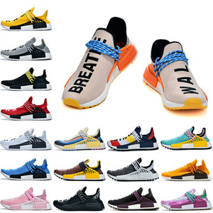 Adidas 2019 Pharrell Williams Nmd Human Race scarpe 2019 Pharrell Williams NMD Human Race Shoes Scarpe da corsa Equality Nerd Nero Nobel Ink Razze umane Scarpe da uomo