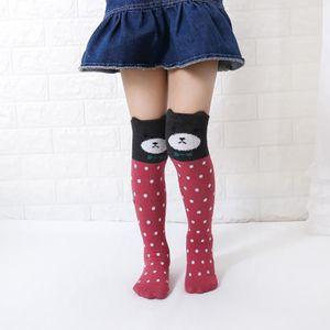 Kid Девушки Длинные носки животных Character мультфильм хлопок Мило колено высокие носки Одежда для малышей ботинок носки гетры Sox 3-12 лет