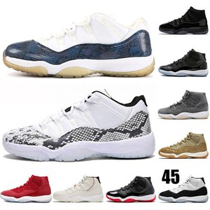 Snakeskin 11 11s Gym Red Chicago Midnight Navy Men Basketball Shoes WIN LIKE 96 UNC Space Jam 45 Womens Sports Sneakers US 5-13