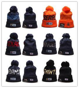 Оптовая Шапочки Шляпы Американский футбол 32 команд Спорт зимняя сторона линии вязаные шапки шапочки вязаные шапки падение Shippping