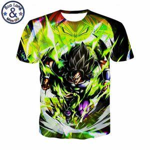 2019 été Animation Dragon Ball T-shirts 3d T-shirt Hommes Super Saiya Broly Broli Impression Tee Shirt Homme Hommes Tshirt Tops Tee Y19050701