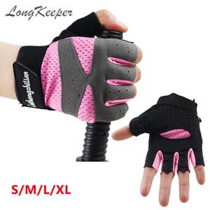 LongKeeper Femmes Gants Rose Noir Fingerless Gris Finger moitié Sport Gym Guante Mitten Haltérophilie Haltère Guant Eldiven S-XL