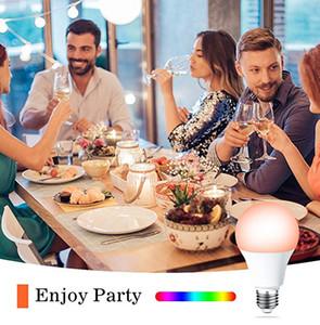 Bulb inteligente LED WIFI RGB 4.5W LED Regulável Bulb Light Bulb Funciona com Alexa Google Home16 milhões de cores APP Controle Remoto