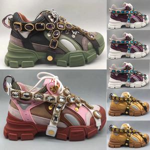 Novos tênis Flashtrek, sapatos de grife masculinos de cristal destacáveis sapatos de grife de moda casual sapatos femininos tamanho 35-45