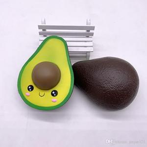 Novos 13 centímetros brinquedos macios abacate PU simulação fruta de abacate pingente subindo lentamente adultos Squishies crianças brinquedo descompressão espremendo brinquedos