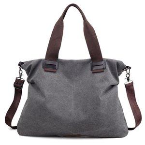 New Style Women's Canvas Handbag Casual Commuter Bag Fashion Solid Color Women's Shoulder Bag