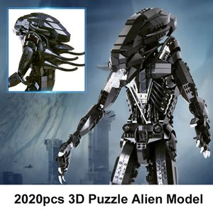 Free shipping 2020pcs Educational Jigsaw Alien Assembly Building Blocks DIY Toy Extraterrestre Model Construction Bricks Gift toys
