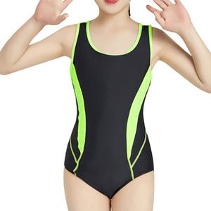 Kinder-Mädchen Sportlich Badeanzug einteiliges Patchwork Sport Kinder Bademode Kleines Mädchen schulterfrei Lektion Zug Badeanzug