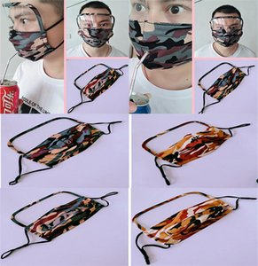 Adjustable Double-sided You can drink Mask Anti-haze Anti-radiation Protective Mask Camouflage Drink Protective Mask da609
