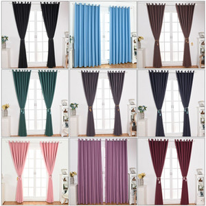 Modern Blackout Curtains for Living Room Bedroom Curtains for Window Treatment Drapes Solid Blackout Curtain Finished Blinds