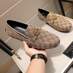 Chaussures de luxe originales de haute qualité pour hommes de marque de mode, chaussures de sport classiques pour hommes sauvages confortables, chaussures de conduite plates respirantes
