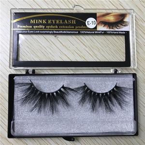 25mm lang 6D Nerz Haar falsche Wimpern Wimpernverlängerung Version von Hand mit Kasten 15style DHL frei zu machen