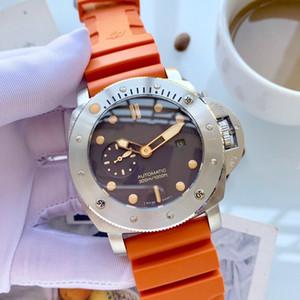 hombre del diseñador relojes reloj automático del hombre de línea 316 de 47 mm de acero fino reloj relojes de lujo reloj mecánico