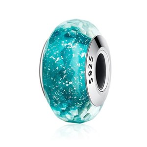 Bule crystal charms bracelets blue series owl crown fireworks star high quality jewelry charms for DIY jewelry fit Pandora for women gifts