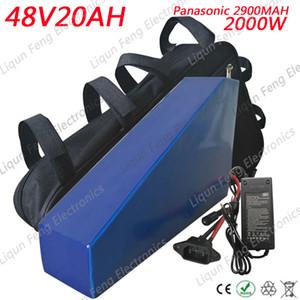 Batería de bicicleta eléctrica de alta calidad 2000W 48V 20AH 48V 20AH Triangle Lithium Battery use Panasonic 2900MAH cell 30A BMS Free Bag