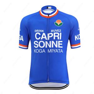 Summer CAPRI SONNE Retro Cycling Jersey Short Sleeve Men Bike Clothing Road Bicycle Clothes Quick Dry Racing Cycling Wear Bike Shirt