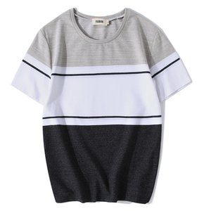 TFETTERS Men's Cotton & Spandex Elastic Fabric Stand Neck T-Shirt Colorful T Shirt Summer 2019 New Casual Top T shirt for Men