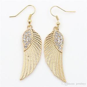 Orecchino di cristallo angelo orecchino di moda oro argento pesce gancio orecchio antico ciondolo lampadario donne pendente orecchini gioielli partito regalo per le ragazze