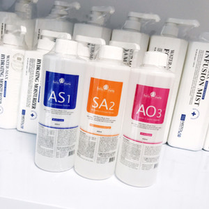 utilisation de la machine HydraFacial Professional solution pelage eau 400 ml par flacon Aqua sérum facial hydra sérum pour le visage pour les peaux normales CE / DHL