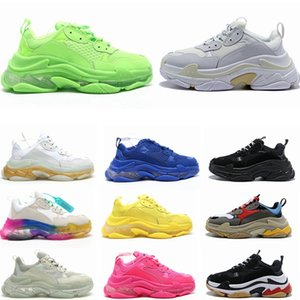2020 Art und Weise Kristall Bottom Paris 17FW Triple S Klar Sole Herren Designer-Turnschuhe Weinlese-Vati-Plattform-Frauen Luxus-Freizeitschuhe Sneaker