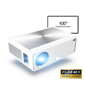 Q9 Full HD 1080P Projector 4K 6500 Lumens Cinema Proyector Beamer HDMI USB AV VGA with gift