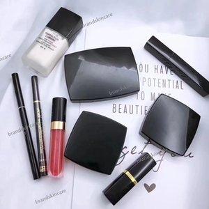 New Makeup Set 9 IN 1 con Matte Lipstick Powder Blush Mascara Liquid Foundation Lipgloss Eyeshadow Eyeliner Pen Cosmetics 9pcs Set