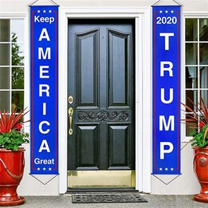 Christmas Flag 2020 Keep Anerica Great Trump Banner Creative New Style Gatepost Couplet Factory Direct Selling 21mh p1