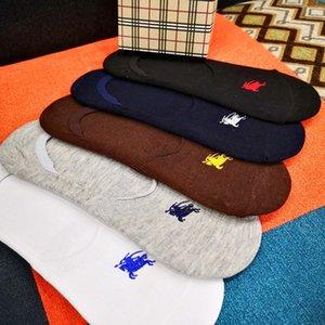 [Com a caixa] BURBERRY de alta qualidade Homens Meias Homens longa carta Ativo Sock Cotton Chaussettes Elite elásticas Sports Sock Chinelos SCA23
