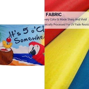 Großhandelsfabrikpreis 3 x 5 Ft 90 * 150 cm Es ist 5 Uhr irgendwo Partei Parrot Margaritaville Jimmy Buffett Flagge für Happy Hour