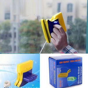 Магнитно Window Cleaner Brush Double Side стекло Стеклоочиститель Очиститель пластик Щетка для очистки Главной Pad скребка Clean Tool Оптовой VT0313