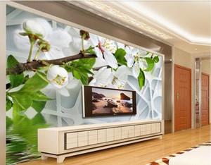 3d room wallpaper tuch benutzerdefinierte foto mural 3D schöne birne TV hintergrund wand blumen wandtapete für wände 3 d wallpaper tür wandbilder